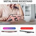Rose Gold Galaxy A72 Shock Proof 360 Rotating Metal Ring Kickstand Case - 3