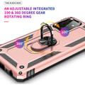 Rose Gold Galaxy A72 Shock Proof 360 Rotating Metal Ring Kickstand Case - 6