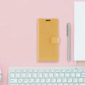 Shiny Gold Samsung Galaxy A72 Mercury Mansoor Wallet Case Cover - 3