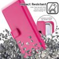 Stylish Hot Pink Samsung Galaxy A72  Mercury Mansoor Wallet Case Cover - 5