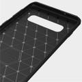 Black Slim Armor Carbon Fibre Case For Samsung Galaxy S10 5G - 2
