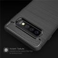 Black Slim Armor Carbon Fibre Case For Samsung Galaxy S10 5G - 3
