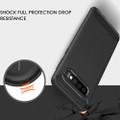 Black Slim Armor Carbon Fibre Case For Samsung Galaxy S10 5G - 4