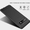 Black Slim Armor Carbon Fibre Case For Samsung Galaxy S10 5G - 5