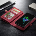 Red iPhone 12 / 12 Pro Multi-functional 2 in 1 Zipper Wallet Card Case - 3