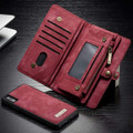 Red iPhone 12 / 12 Pro Multi-functional 2 in 1 Zipper Wallet Card Case - 4
