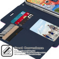 Purple iPhone 13 Rich Diary 6 Card Slot Wallet Case  - 2
