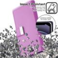 Purple iPhone 13 Mini Genuine Mercury Rich Diary Wallet Case  - 4