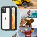 Black Waterproof Underwater Shock Proof Case For iPhone 13 Mini  - 9