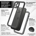 Black Waterproof Dirtproof Shock Proof Case For iPhone 13 Pro Max  - 9