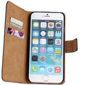 Black Genuine Leather Wallet Case for Apple iPhone 6 / 6S Mobile Phone Cover - 2