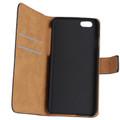Black Premium Apple iPhone 5C Genuine Leather Wallet Case Cover - 2