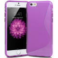 "Purple S-Line S-Curve Soft Gel Case For Apple iPhone 6 4.7"" Cover"
