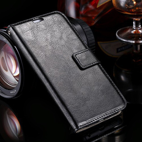 Black Textured Business Wallet Case for Samsung Galaxy S6 Edge - 1