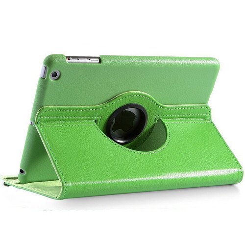 Green Smart Apple iPad Mini 3 360 Rotational Leather Stand Case Cover - 1