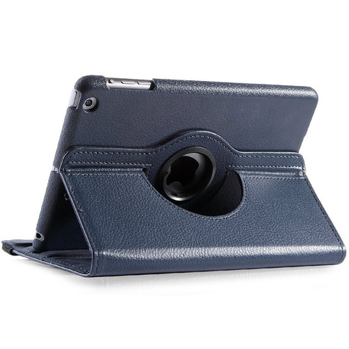 Navy Business  Rotational Leather Stand Case Cover For Apple iPad Mini 3 - 1