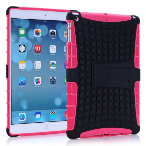 Hot Pink Apple iPad Mini 3 Protective  Shock Proof Hybrid Kickstand Case - 1