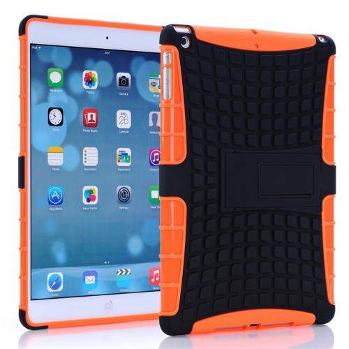 Orange Heavy Duty Defender Hybrid Kickstand Case For Apple iPad Mini 3 - 1