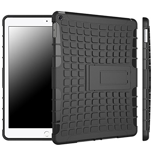 Black Apple iPad Air 2 Heavy Duty Defender Case with Built-In Kickstand