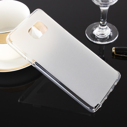 Clear Samsung Galaxy Note 5 Matte Soft Gel Wave Case Cover