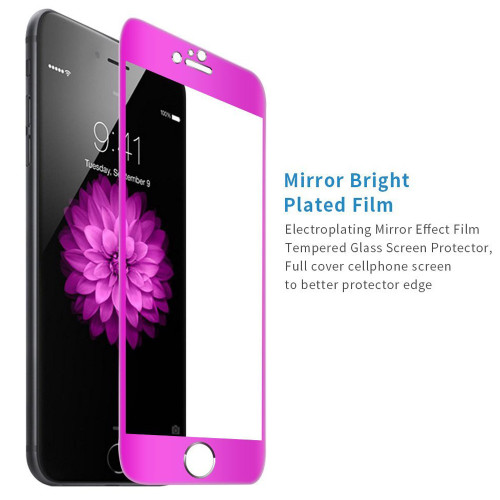 "Hot Pink Apple iPhone 6 / 6S 4.7"" Full Cover Tempered Glass Screen Protector - 1"