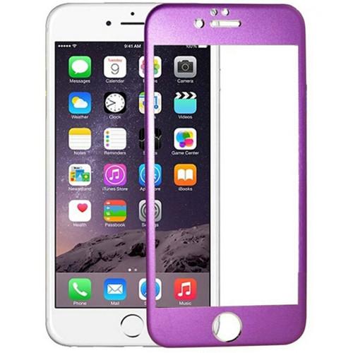 "Purple Apple iPhone 6 / 6S 4.7"" Titanium Frame Tempered Glass Screen Protector - 1"