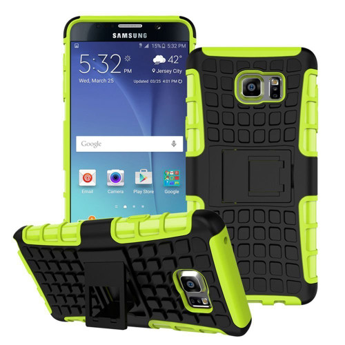 Green Hybrid Defender Cover Case For Samsung Galaxy Note 5