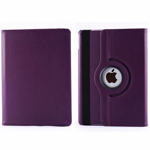 Apple iPad Air Purple 360 Rotating Leather Stand Case Smart Cover
