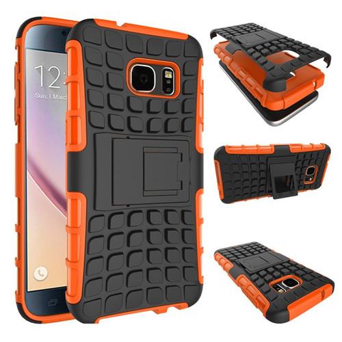 Orange Samsung Galaxy S7 Heavy Duty Rugged Defender Shockproof Case