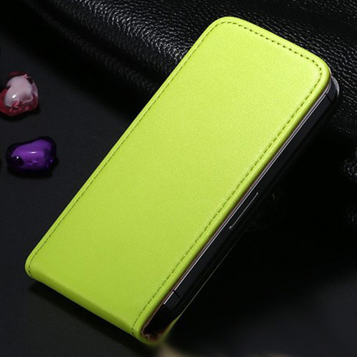 Green Leather Vertical Flip Case For Apple iPhone 5 / 5S - 1