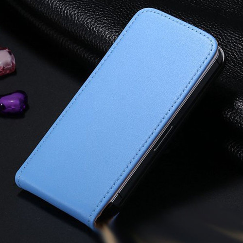 Blue Leather Vertical Flip Case For Apple iPhone 5 / 5S - 1