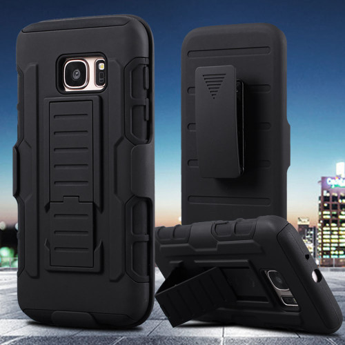 Samsung Galaxy S7 Edge Military Future Armor Case w/ Optional Holster - 1