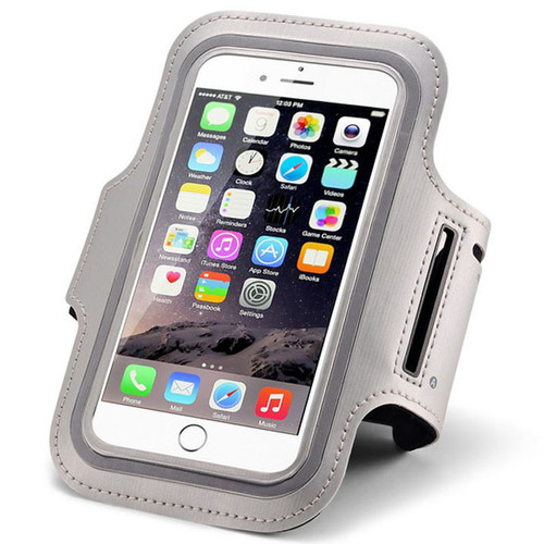 Grey Sports Gym Jogging Arm band for iPhone 6 Running Armband