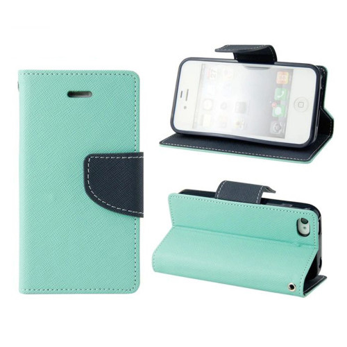 Sky Blue Apple iPhone 5C Diary Wallet Soft Inner Case