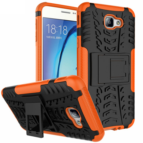 Orange Tough Tradies Protective Stand Case For Samsung Galaxy J5 Prime