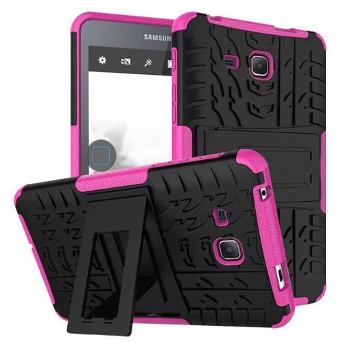 "Hot Pink Dual Layer Kickstand Case For Samsung Galaxy Tab A 7.0"""