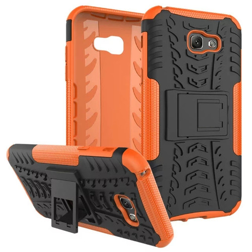 Orange Touch Dual Layer Kickstand Case For Samsung Galaxy A7 (2017)