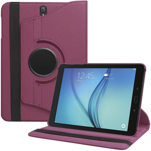 Purple Rotating 360 Case for Samsung Galaxy Tab S3 9.7 T820 - 1