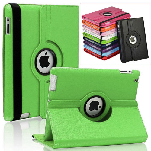 "Green iPad 2017 9.7"" 360 Degree Slim Rotating Synthetic Leather Case  - 1"