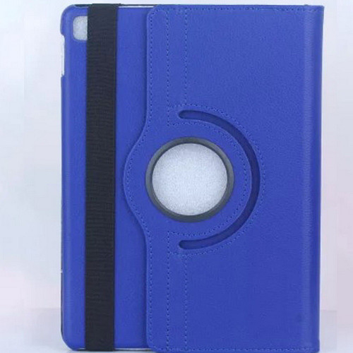"Navy Blue iPad 2017 9.7"" 360 Degree Rotation Flip Synthetic Leather Smart Case Cover Stand  - 3"