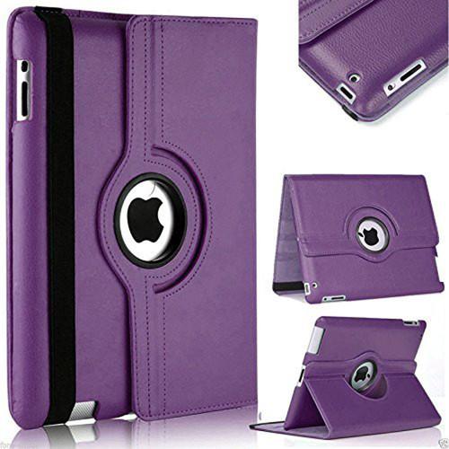 Purple 360 Degree Rotating Leather Stand Case For Apple iPad Mini 4 / 5 - 1