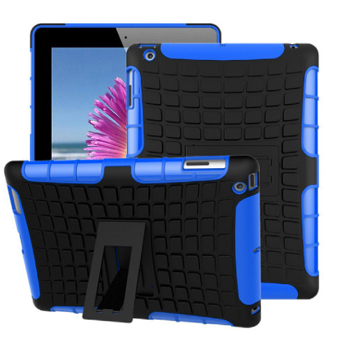 Blue Heavy Duty Rugged Kickstand Case for Apple iPad 2017 - 1