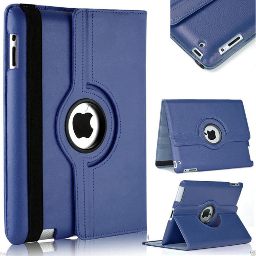 Navy iPad Mini 4 / 5 PU Leather  360 Degree Rotating Stand Case Cover - 1