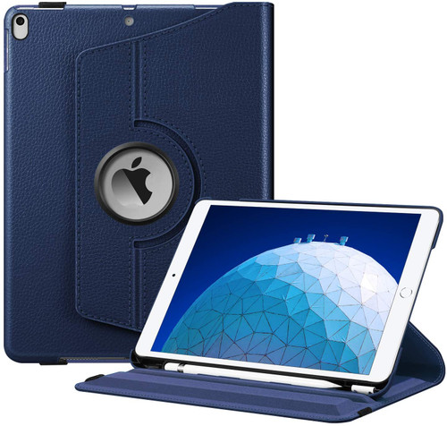 "Navy Blue iPad Pro 10.5"" 2017 360 Degree Rotation Flip Smart Case"