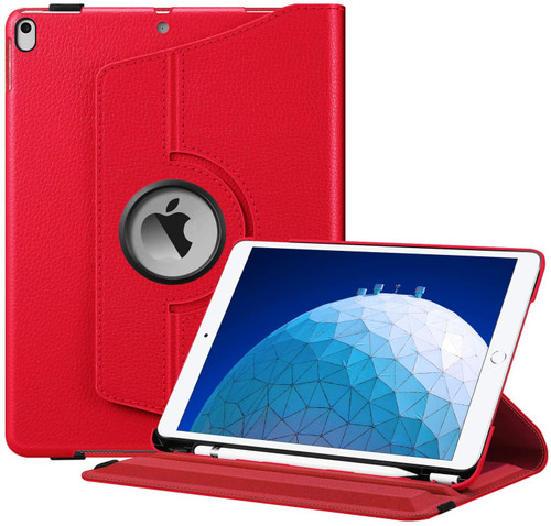 "Red iPad Pro 10.5"" 2017 360 Degree Rotating Smart Stand Case - 1"