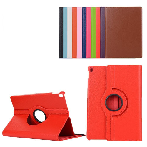 """Red iPad Pro 10.5"""" 2017 360 Degree Rotating Premium Synthetic Leather Case Stand - 1"""