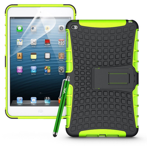 Green Apple iPad Mini 4 Hybrid Kickstand Shockproof Case Cover with Stand - 1