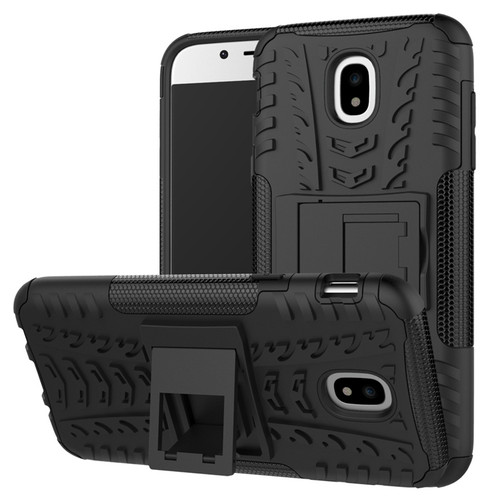 Black Shock Proof Kickstand Case For Samsung Galaxy J5 Pro (2017)