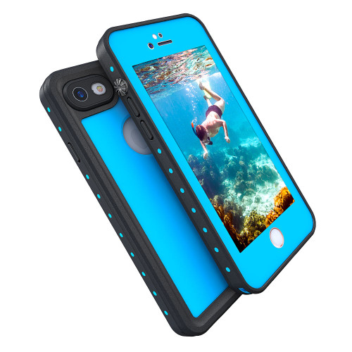 Sky Blue Waterproof Dirtproof Defender Smart Case Cover For Apple iPhone 7 - 1