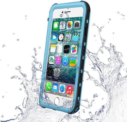 Sky Blue Waterproof Dirtproof Defender Smart Case Cover For Apple iPhone 8 - 1
